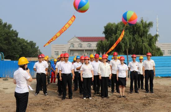 工程公司举行DN900管线敷设开工仪式