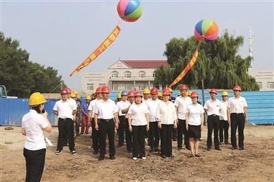 bwin注册送79集团工程公司举行DN900管线敷设开工仪式